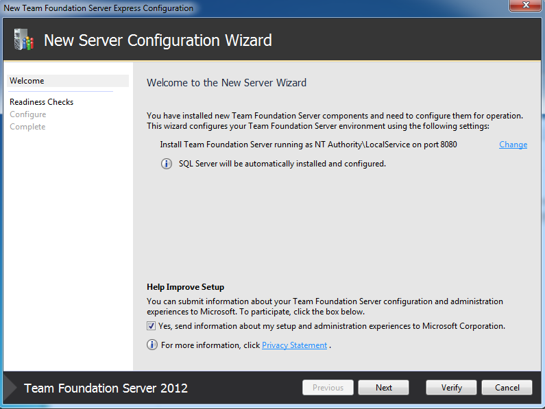 Getlatestversion installare tfs express - Porta sql server ...